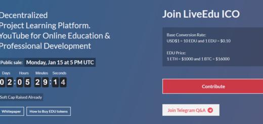 Обзор LiveEdu ICO — децентрализованной одноранговой сети учебных проектов