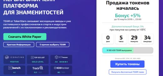 Проект TokenStars — блокчейн платформа для знаменитостей