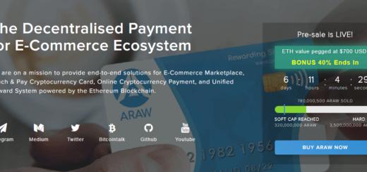 ARAW Token — децентрализованные платежи для электронной коммерции